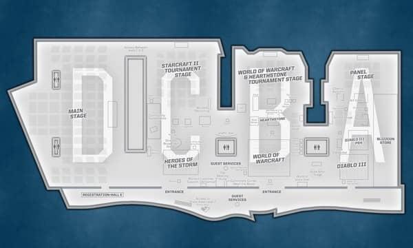 Карта BlizzCon