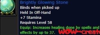 Brightly Glowing Stone